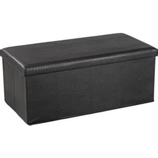 extra large black ottoman extra large crocodile leather effect ottoman black 163 16