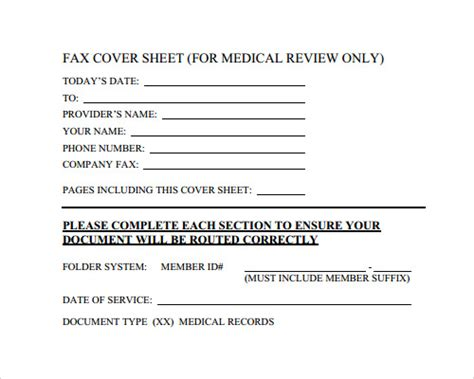 printable fax cover sheet medical fax cover sheet template 28 download free documents in