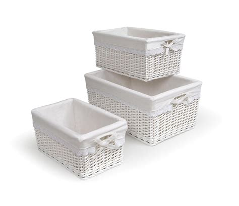 white with baskets amazon com badger basket diaper corner changing