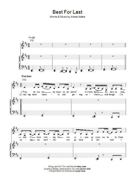 guitar chords for adele best for last best for last sheet music direct