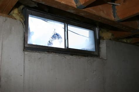 permanently covering basement window moisture avs