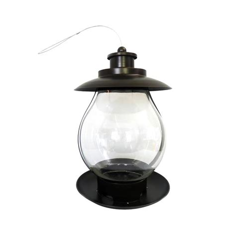 shop backyard glory black metal hopper bird feeder at