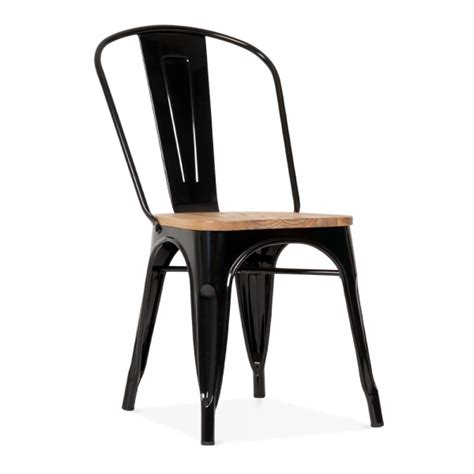 table et chaise noir black side chair with elm wood seat cult furniture