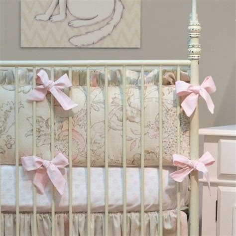 doodlefish peony crib bedding nursery decor