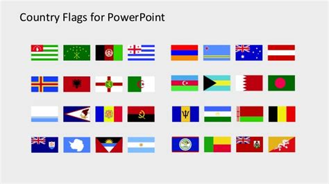 flags of the world ppt slidemodel country flags clipart for powerpoint a to b