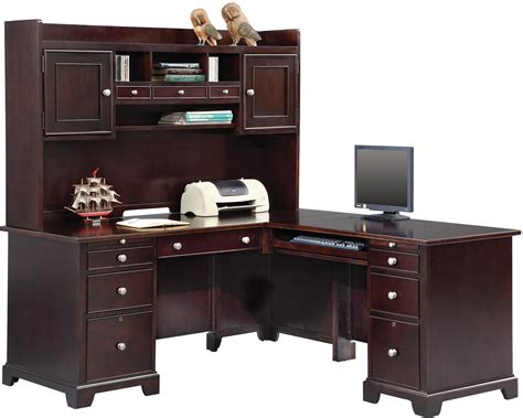 winners only china cabinet 63 quot desk hutch and 66 quot desk with 42 quot return by winners