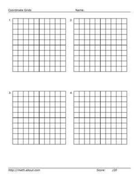 practice  graphing   printable    grid