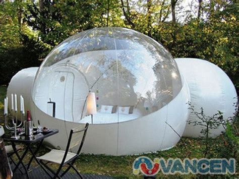 bubble tent bespoke transparent cing tent inflatable two rooms