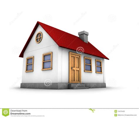 picture of a house 3d render of a house stock photography image 13475432