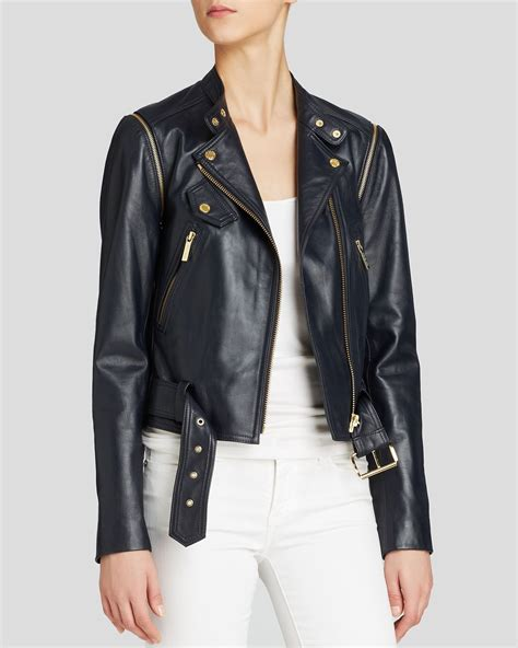 Luxe Leather Jacket For New Year And Beyond by Michael Michael Kors Convertible Leather Moto Jacket In