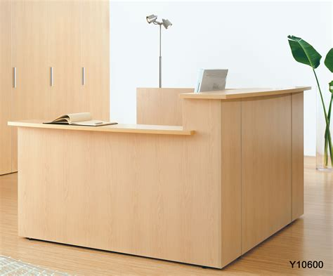 Custom Multi Level L Reception Desk W Right Side Low Counter L Shaped Reception Desk Counter