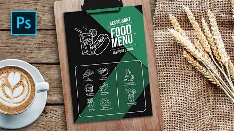 desain menu makanan simpel hand drawn food menu