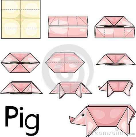 How To Make A Origami Pig - origami pig stock photos image 31697563