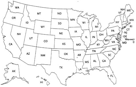 united states map to color thefreebiedepot
