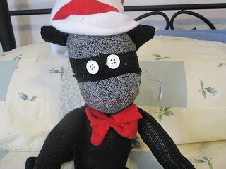 cat sock puppet for the of sewing the cat in the hat sock puppet