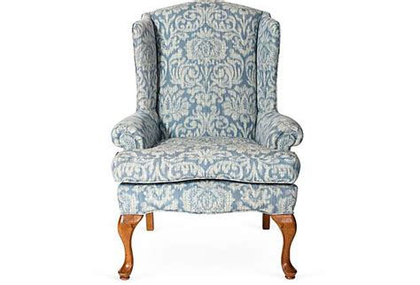 ikat wingback chair