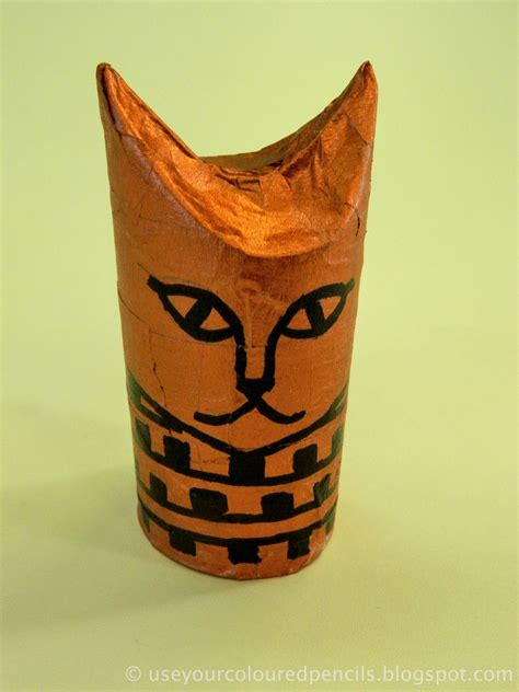 ancient crafts for use your coloured pencils cat mummies