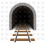 Empty Railway Tunnel 105024 Download Royalty Free Vector Clipart