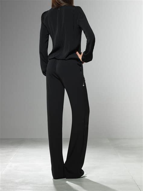 Patrizia Pepe Jumpsuit patrizia pepe jumpsuit in black lyst