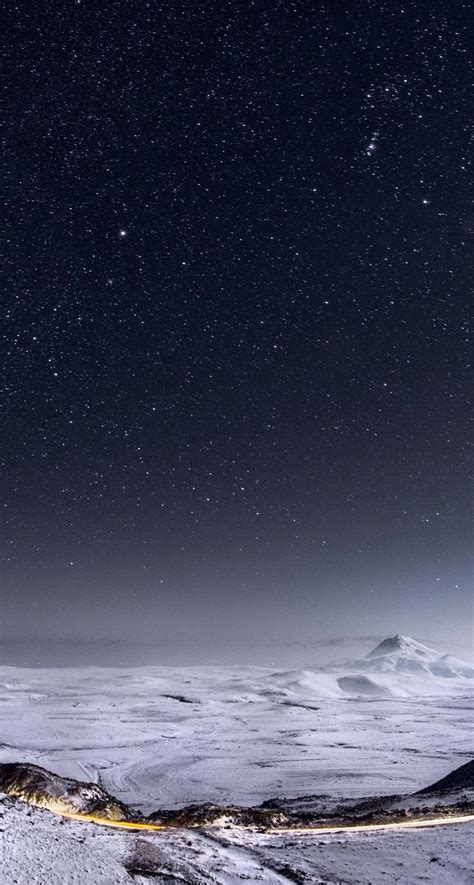 hd wallpapers for iphone 6 landscape night stars mountain range winter landscape iphone 6 plus