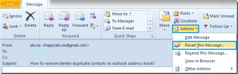 Office 365 Outlook Recall Message How To Recall Or Retract A Sent Message In Outlook