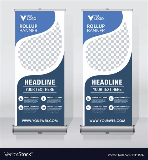 Creative Roll Up Banner Design Template Royalty Free Vector Banner Design Templates