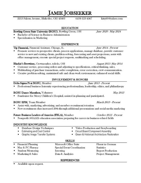 Resume Examples For College Students Engineering by Resume Reveal