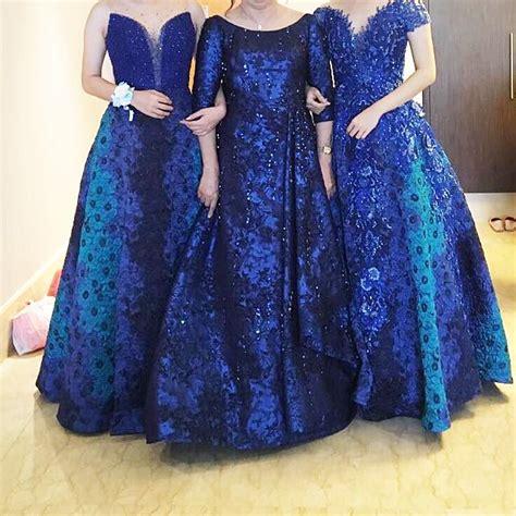 Preloved Dress Pesta Muslim blue dress pesta rental gaun wedding preloved fesyen wanita pakaian wanita di carousell