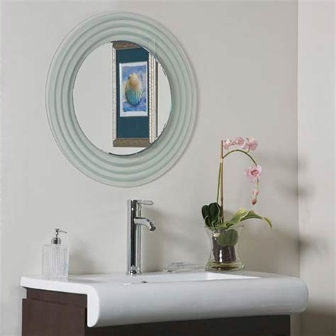 Frameless Beveled Mirrors For Bathroom Beveled Frameless Bathroom Mirrors Bellacor