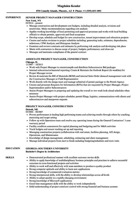 project management resume templates zombotron2 info