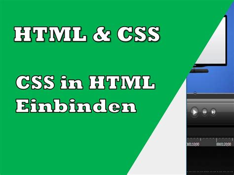 css tutorial on youtube css in html einbinden tutorial youtube