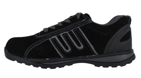 mens womens groundwork suede steel toe cap safety shoes