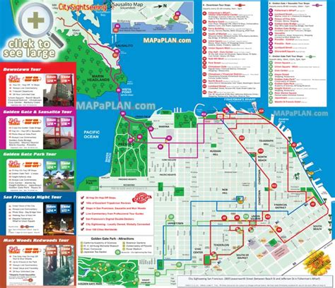san francisco map attractions san francisco maps top tourist attractions free