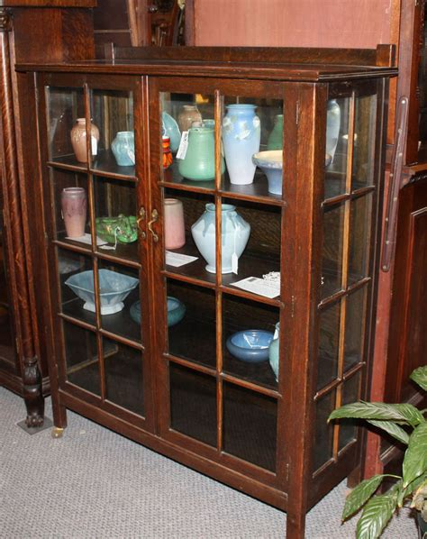 mission style curio cabinet antique mission oak curio china cabinet arts and crafts