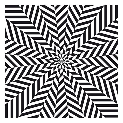 optical pattern black and white op art image of the day grasshoppermind