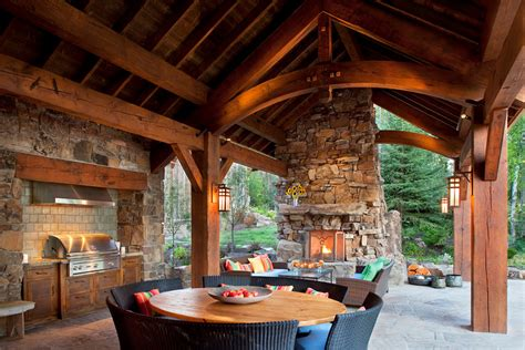 outdoor rustic outdoor kitchen designs ideas rustic 15 porch design ideas with outdoor kitchen