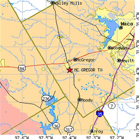 mcgregor texas map mc gregor texas tx population data races housing economy