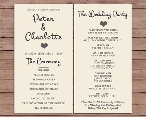 the 25 best wedding ceremony booklet templates ideas on wedding ceremony booklet