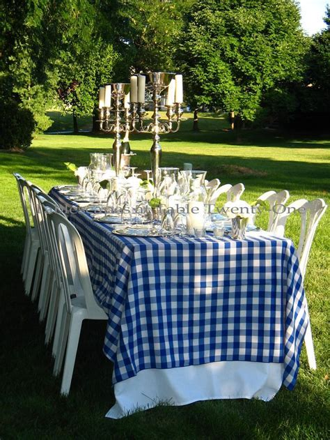 Summer Blues and Greens!   Table Settings   Checkered