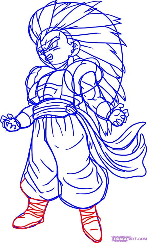 imagenes de goku que se puedan dibujar como dibujar a goku vegeta y gotenks ssj3 arte taringa