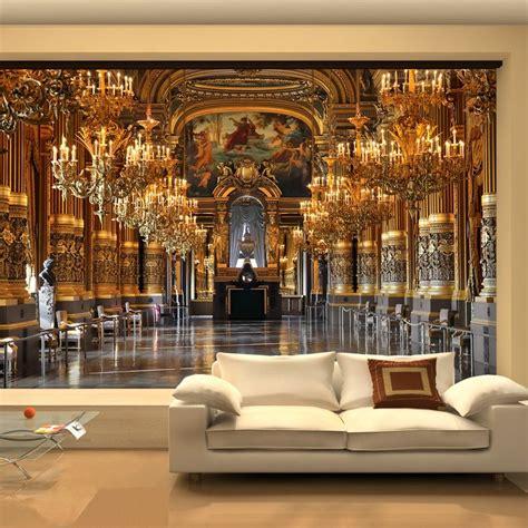 large  wallpaper mural european minimalist living room