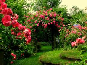 Garden Of Pink garage flowers in beautiful garden pictures
