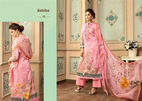 Funkids Varisha Size S Blue varisha by sahiba designer with embroidery work satin cotton suits are available at wholesale