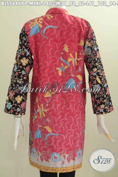 Baju Lengan Panjang Lebaran baju muslim bahan batik terbaru dari pakaian batik lengan panjang kerah shanghai motif