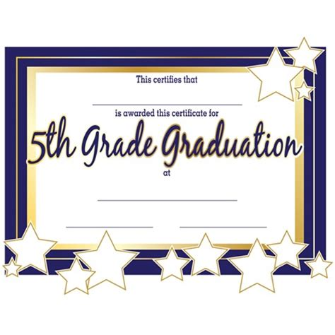 5th grade graduation certificate template 5th grade graduation certificates s