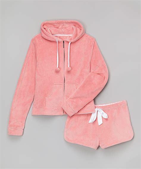 Pink Snoopy Shortpants Pajamas big pjs pink plush hoodie with shorts hooded pajamas sleepwear robes