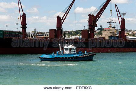 tugboat hiring in new zealand tugboat in auckland harbour new zealand stock photo