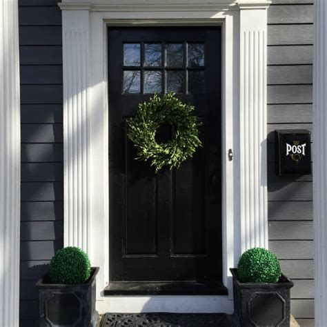 Black Exterior Doors with 10 Colors To Paint Your Front Door In 2016 A Clore Interiors