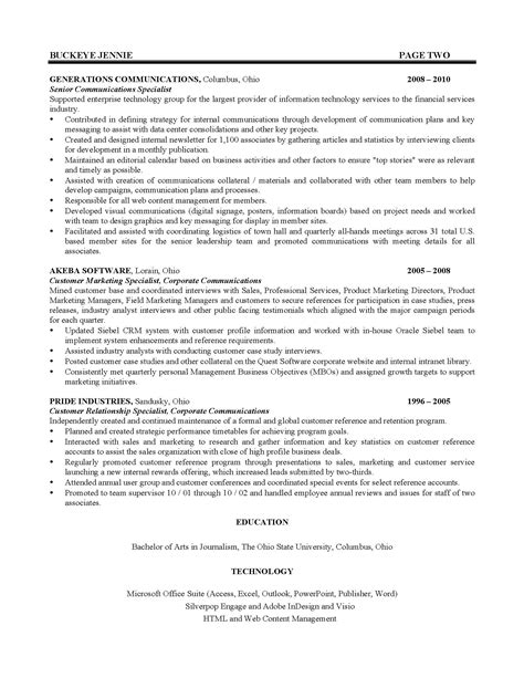 Resumes And Cover Letters The Ohio State University Alumni Association Ohio State Resume Template