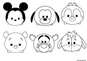 coloriage tsum tsum disney facile enfant simple dessin